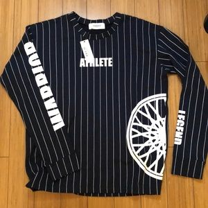 Soul Cycle Jersey Striped Long Sleeve Top